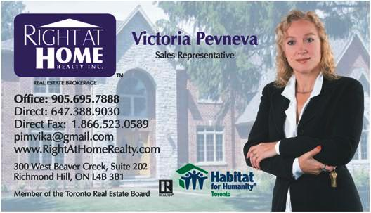 Victoria Pevneva. Real Estate agent.